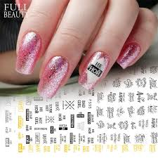 1pcs 3d Black Gold Silver Russia Letter Word Sticker For Nails Diy Design Alphabet Decal Wraps Manicure Nail Slider Chf584 F595 Leather Bag