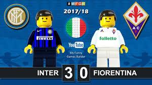 Inter Fiorentina 3-0 • Serie A (20/08/2017) goal highlights sintesi Lego  Calcio 2017/18 - YouTube