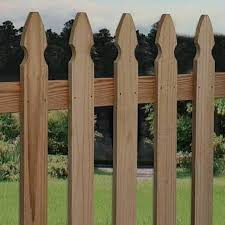 Shop Severe Weather Pine French Gothic Pressure Treated Wood Fence Picket Panel Common 3 5 Ft X 8 Ft Actual Fence Panels Wood Fence Picket Fence Panels