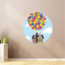 Design With Vinyl Balloon Up Movie Cartoon Characters Wall Decal Wayfair