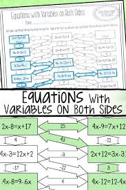 this solving equations with variables