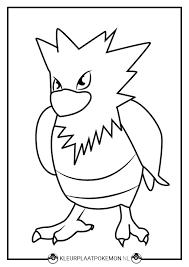 Spearow Kleurplaten Downloaden Kleurplaat Pokemon