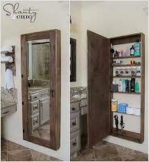 full length mirror with storage behind