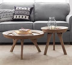 moraga round wood coffee table