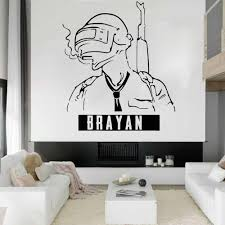 Personalised Wall Decals Game Controller Wall Sticker For Kids Rooms Home Decor Bedroom Stickers Room Decal Customized B516 Wall Stickers Aliexpress
