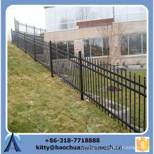 Cheap Sloping Terrain Wrought Iron Fence Panels For Sale Galvanized Sloping Terrain Steel Fence Ornamental Fence China Manufacturer