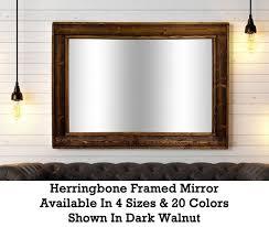 large framed herringbone reclaimed wood