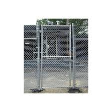 Hoover Fence Industrial Chain Link Fence Single Gates All 2 Galvanized Hf40 Frame Hoover Fence Co