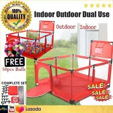 Original High Quality Detachable Baby Playpen Children Toddler Kids Safety Fence Indoor Outdoor Play Pen Ocean Ball Pool Safety Barrier With Basket Lazada Ph