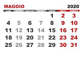Calendario maggio 2020 – calendario.su