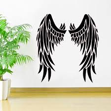 Angel Wings Vinyl Sticker Inspirational Car Window Decal Heaven Religious Deco Ideas Bedroom Interior Wall Art Murals C403 Wall Stickers Aliexpress