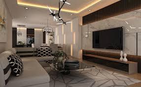 3d living dining hall interior design