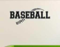 Baseball Wall Decor Stickers Contemporary Wall Decals By Vinylsay Llc