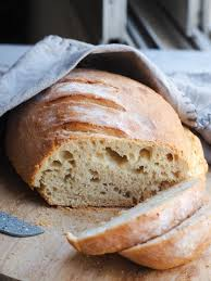 spelt bread peasful plate