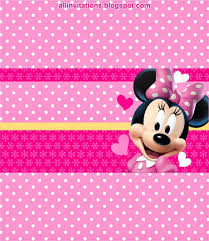 Candy Bar Wrapper Etiqueta Chocolate Minnie Mouse Etiquetas