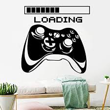 Amazon Com Loading Wall Decal Controller Stickers Gamer Stuff Computer Loading A Video Game Sticker For Kids Bedroom Vinyl Boy Wall Sticker Art Decor For Home Playroom Game Boys Room Diy Art Decals