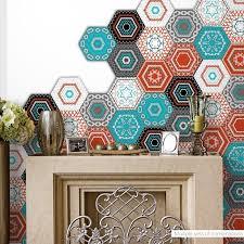 1set 20pcs Pvc Waterproof Stickers Self Adhesive Tile Art Floor Wall Decal Sticker Diy Kitchen Bathroom