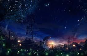 wallpaper fireflies wire power lines
