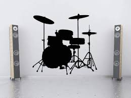 Amazon Com Drum Set Drum Art Drum Wall Art Drum Decal Snare Cymbals Bass Wall Decal Music Decal Sticker Vinyl Wall Home Kids Bedroom Decor Made In Usa Home Kitchen