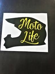 Moto Life Car Decal Car Decal Motocross Decal Motocross Gifts Vinyl Decal Motocross Car Decal Car Window Decal R Moto Mom Black Helmet Car Decals
