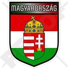 Amazon Com Hungary Hungarian Shield Magyarorszag 100mm 4 Vinyl Bumper Sticker Decal Automotive