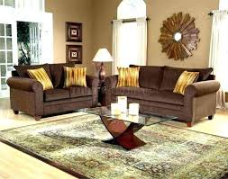 likable brown couch grey room living