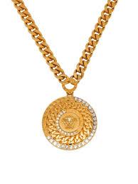 versace medusa head strass necklace
