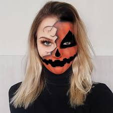 21 half face halloween makeup ideas and