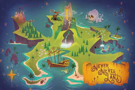 Neverland Map Print Etsy