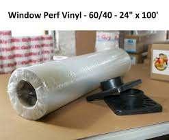 Window Film Vinyl Roll Uv Perforated Mutoh Roland Mimaki Printer 8mil 54 X 100 For Sale Online Ebay