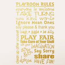 Isabelle Max Playroom Rules Wall Decal Reviews Wayfair