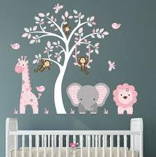 Pin By Renate Muller On Babyzimmer Dekor In 2020 Nursery Wall Stickers Jungle Wall Stickers Pink And Gray Nursery