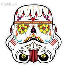 Osmdecals Sugar Skull Sticker Version 16 Day Of The Dead Vinyl Wall Home Decor Car Window Bumper Decal Sticker On Star Wars