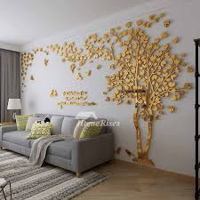 Wall Decals For Living Room Tree Acrylic Home Personalised Mirror