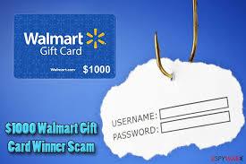 remove 1000 walmart gift card winner