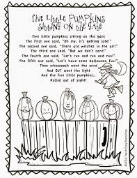 Free Five Little Pumpkins Sitting On The Gate Poem And Colouring Sheet Five Little Pumpkins Pumpkin Coloring Pages Halloween Preschool