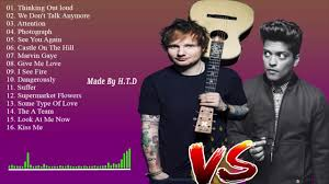 Bruno Mars Greatest Hits Album completo 2017 - Le migliori canzoni di Bruno  Mars Ed Sheeran - YouTube
