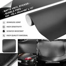 4ft X 5ft Matte Flat Black Vinyl Film Wrap Sheet With Air Release Auto Parts And Vehicles Car Truck Graphics Decals Magenta Cl