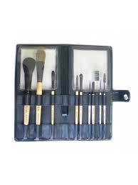 set of 9 makeup brushes
