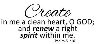 Create In Me A Clean Heart Psalm 51 10 Home Vinyl Wall Decal Quotes Wa