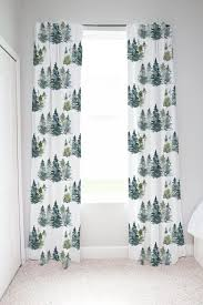 Woodland Curtains For Nursery Forest Curtain Pine Tree Curtains Blackout Curtains Nursery Wilderness Nurse In 2020 Woodland Curtains Nursery Curtains Tree Curtains