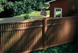 Imperial Vinyl Semi Private Fence With Select Cedar Texture 6ft X 8 Ft