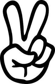 Peace Sign Hand Vinyl Decal Car Window Bumper Sticker Peace Symbol