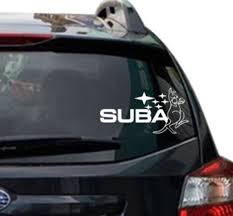 Subaru Kangaroo Car Decal Window Sticker Subaroo Etsy