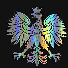 14 14cm Poland White Eagle Polish Coat Of Arms Of Poland Car Decal Sticker Amazon In Car Motorbike