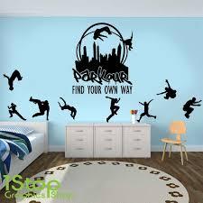 Graffiti Parkour Running Jumping Urban Style Skate Wall Sticker Boy Room Street Culture Sport Wall Decal Bedroom Vinyl Decor Wall Stickers Aliexpress
