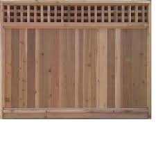 Taiga Building Products 6 Ft X 8 Ft Cedar Fence Panel With Square Lattice Top Lowe S Canada