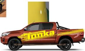 Car Decal 2 Pieces Include Left And Right Graphic Vinyl Car Sticker For Toyota Hilux Car Stickers Aliexpress