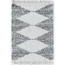 qi geometric cream beige area rug in