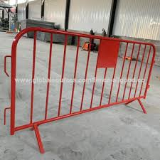 Chinatemporary Crowd Barriers Event Fence Portable Barrier Fixed Foot Pedestrian 2 3mtr Fixed Leg Barrier On Global Sources
